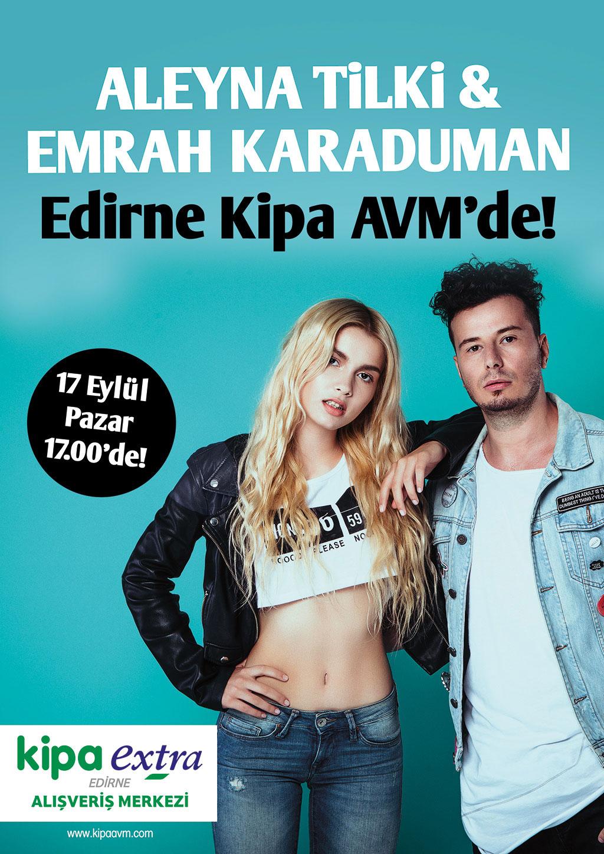 Aleyna Tilki & Emrah Karaduman Edirne Kipa AVM'de