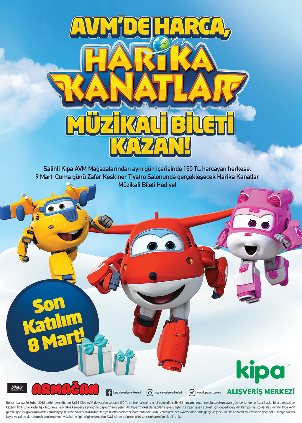 KİPA AVM'de Harika Kanatlar Müzikali Bileti Kazan!