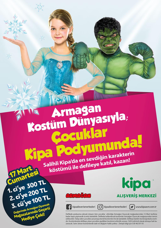 Armağan Kostüm Dünyasıyla; Çocuklar Kipa AVM Podyumunda!